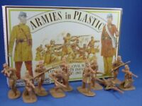 ARMIES IN PLASTIC Civil War Confederate Infantry Butternut 20 BOXED FREE SHIP