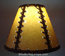 Cottage lamp shades ebay rustic double laced cabin table light lamp shade clip on bulb style 9 inch aloadofball Gallery