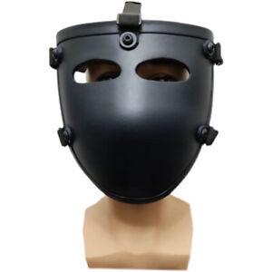Tactical Ballistic IIIA Bullet Proof Face Guard Shield Mask Aramid Fiber Black