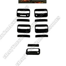 For Ford F150 2004-2014 Black Gloss Covers 4 Door Handles W/ KP KH TAILGATE W/K