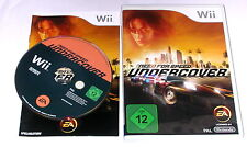 "NINTENDO WII SPIEL"" NEED FOR SPEED UNDERCOVER "" KOMPLETT"