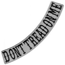 "VEGASBEE® DONT TREAD ON ME REFLECTIVE IRON-ON EMBROIDERED PATCH LOW ROCKER 15""L"
