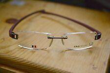 Tag Heuer TH 7102 018 Rimless Eyeglass Frames 135 52x18 30016 Burgundy Reflex