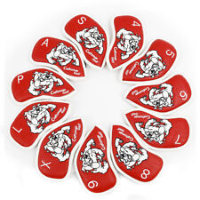 11PCS Red Golf Tiger Dog Iron Club Head Covers for Callaway Taylormade Titleist