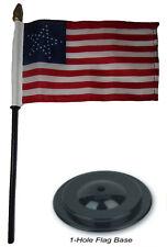 "35 Great Star USA 4""x6"" Flag Desk Set Wood Table Stick Staff Black Base"