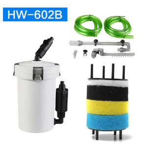 External Canister Filter Aquarium Fish Tank Bucket Table Mute Nano HW602 HW-602B