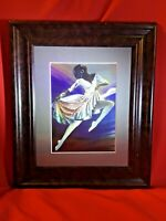 "Beautiful African American Ballerina in a Leap  11.25""x13""x.75"""