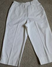 EUC Studio Works White Cropped 100% Cotton High Waist Jeans (29 X 21 1/2)  Sz 12