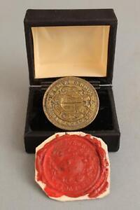 Antique 18thC Medical Doctor, College of Surgeons, Bronze Intaglio Wax Seal