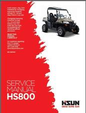Hisun HS 800 UTV Service, Owners & Parts CD Coleman Bennche Massimo Qlink Diamo