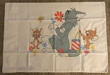 TOM AND JERRY  PILLOW CASE  C. 1960'S  MGM  CHUCK JONES ERA  SUPER CLEAN