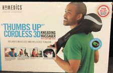 HoMedics Thumbs Up Cordless 3D Kneading Massager with Smoothing Heat New