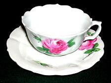 Meissen rosa rossa grande tazza con ut 19. secolo