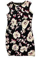 Liz Jordan Womens Pencil Dress Size 16 Floral  Black White
