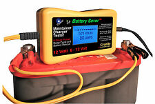 Dual Voltage 6 & 12 Volt 12 Watt PULSE Maintainer & Tester w/ Battery Rescue