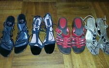 4 pair leather black red shoes size 9, 5 Stuart Weitzman,Derek Lam,Aerosols, AK