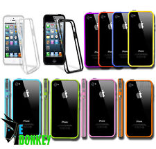 BUMPER CUSTODIA CASE COVER TRASPARENT CRYSTAL FOR APPLE IPHONE 4 4S