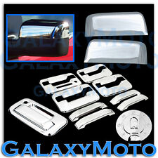 04-08 F150 Chrome HALF Mirror+4 Door Handle+keypad+no keyhole+Tailgate+Gas Cover