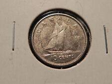 ~1960~ TEN CENTS  CANADA    NICE 80% SILVER COIN