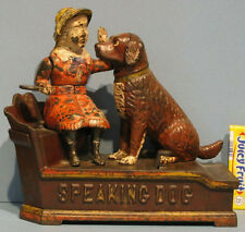 1885 AUTHENTIC OLD SPEAKING DOG MECHANICAL BANK NEAT & WORKS GREAT *SALE* BK791