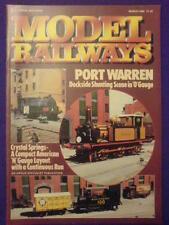 MODEL RAILWAYS - PORT WARREN - March 1989 vol 6 #3