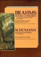 """BRAHMS - SCHUMANN Fantasy in C principali RICCI - MASUR 12"""" LP (6082)"""