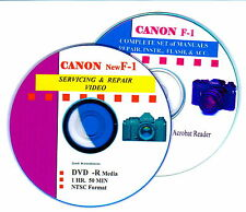 CANON F-1 Combined Master Servicing & Repair Video DVD & Data on & CD