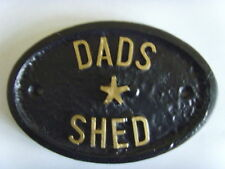 DADS SHED Fathers Day gift GARDEN HOUSE SIGN BUSINESS PLAQUE  DOOR