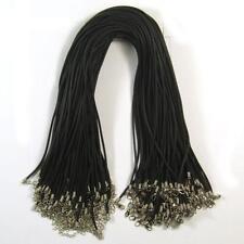 """Wholesale 100 pcs Black Rubber Necklace Cords 18"""" x 2mm Thick"""