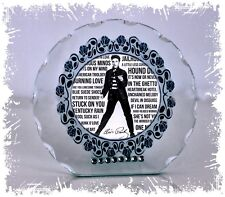 Elvis Jailhouse Rock Cut Glass Round Plaque Diamante Design Limited Edition #1