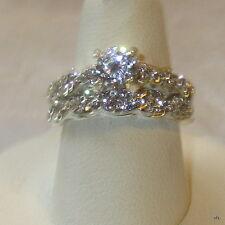 Make Statement Classy Round CUT Clear Crystal Wedding Set SZ 7.5
