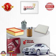 KIT TAGLIANDO 4 FILTRI + OLIO JAGUAR S-TYPE 2.7 V6 DIESEL 152KW DAL 2004 -> 2008