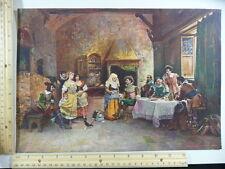 Rare Antique Orig VTG The Fortune Teller Philadelphia Inquirer Litho Art Print