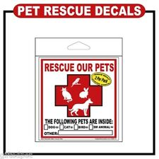 Rescue Our Pets Window Decals (2 Per Pack)