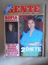GENTE n°21 1991 Sofia Loren Sabatini Gabriella Edwige Fenech Redford  [M26]