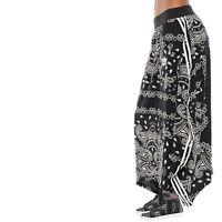 adidas Originals Paisley Black & White Long Casual Maxi Bandanna Boho Skirt NEW