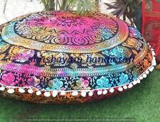 Mandala Round Throw Pillow Case Sofa Cushion Covers Bohemian Floor Pillows Cover