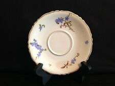 Haviland Limoges Montmery (Forget Me Nots) One (1) Footed Tea Cup Saucer France
