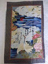 Tessuto Giapponese Gru Cotton Craft Quilting Oriental birds KONA Bay 1
