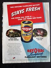 Jeep in Battle 1945 Ray-O-Vac Battery WWII Ad