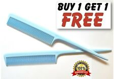 "Spring Sky Blue Barbers Plastic Pin Tail Hair Comb 8"" Rat Tail Comb UK Quality"