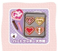 RE-MENT Heart Sweets #4-Sweetheart Cookies,1:6 for Barbie kitchen food miniature