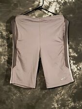 Men's Nike Biking Running Shorts Gray Large L Dri-Fit