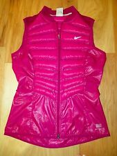 NIKE HOT PINK AEROLOFT 800 FILL DOWN VEST WARM INSULATED JACKET WORN ONCE S