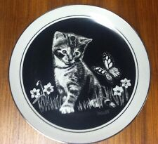 Kitten's World Are You A Flower Collector Plate by Droguett w/ Coa and box 18072