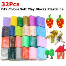 32 Colors Malleable Polymer Clay Fimo Block Modelling Moulding Sculpey DIY Toys