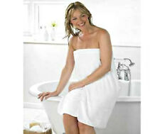 Microfibre Body Wrap Towel White Drying Bath Shower Spa Holiday One Size Stretch