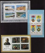 South Africa 1983/85 Miniature sheet lot of 3