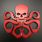 3d Car Body Emblem Red Hydra Skull Octopus Badge Metal Truck Sticker
