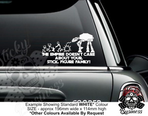 Star Wars Empire Jedi Stick Family Car Vinyl Sticker Window 33 colour choices